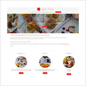 Site de prezentare Your Food